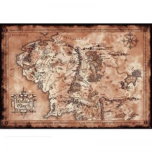 "ABYstyle - LORD OF THE RING - Poster ""Carte"" (98x68) de la marque ABYstyle image 0 produit"