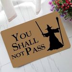 You Shall Not Pass Custom Paillassons,40x60cm ,Multicolor de la marque Eureya image 1 produit